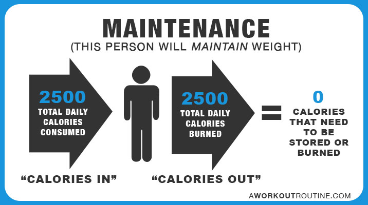 How many calories do you need daily to maintain weight