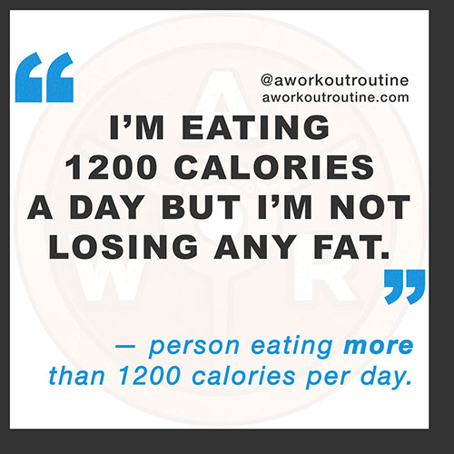 Eating 1200 calories a day but not losing weight?