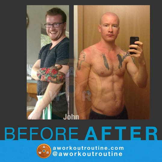 Reader Results: Transformations From AWorkoutRoutine com