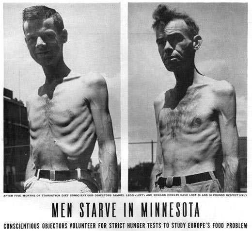 Two participants of the Minnesota Starvation Experiment.